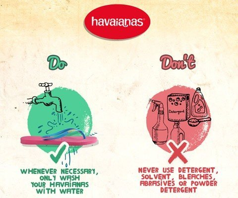 HOW TO TAKE CARE OF YOUR HAVAIANAS