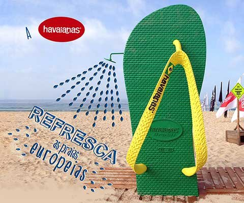 A HAVAIANAS REFRESCA AS PRAIAS EUROPEIAS
